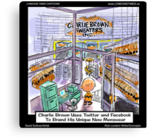 Charlie Brown Decides 2 Brand Image by Londons Times Cartoons Canvas Print