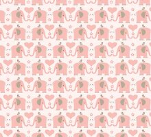 Pink Elephant Pattern by Melissa Held