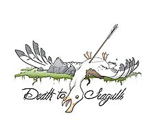 Death to Seagulls Photographic Print