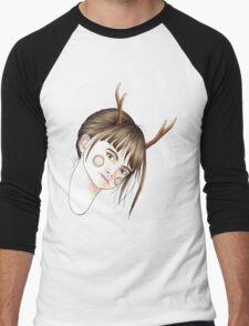 Fawn Girl Men's Baseball ¾ T-Shirt