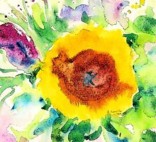 Sunflower by Caroline  Lembke