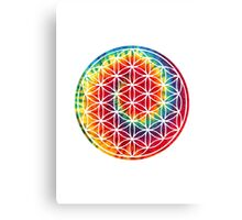 Inverted Tie-dye Flower of Life Canvas Print