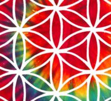Inverted Tie-dye Flower of Life Sticker