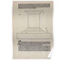 Measurement With Compass Line Leveling Albrecht Dürer or Durer 1525 0098 Repeating Shapes Poster