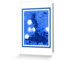 Blue Figure Greeting Card