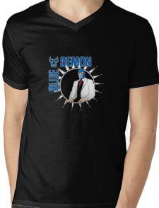Blue Demon Mens V-Neck T-Shirt