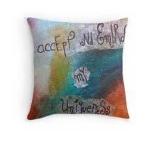 I accept and embrace my Uniqueness Throw Pillow