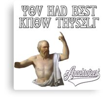 Socrates ~ Know Thyself Anachrotees' Design Canvas Print