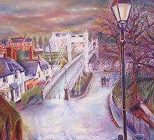 queens way bridge, chester, cheshire by mary saifelden