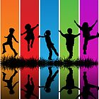 kIDS AND RAINBOW by Richard Laschon