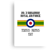 No. 3 Squadron - RAF Canvas Print