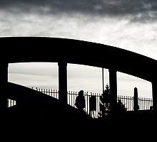 Crossing the bridge, Evesham, Worcestershire, UK by buttonpresser