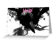 Barbie Attacked by Giant Monsterbird Greeting Card