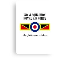 No. 4 Squadron - RAF Canvas Print