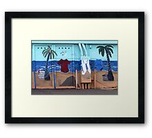 Washday Can Be a Beach Framed Print