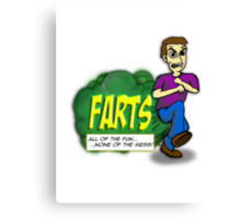 Farts - All of the fun none of the mess Canvas Print
