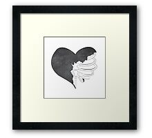 Heart with Ribs Framed Print