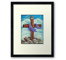 Blood On The Cross Framed Print