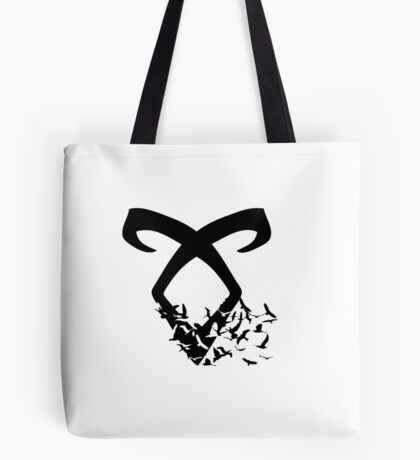 Black Angelic Rune (Birds)  Tote Bag