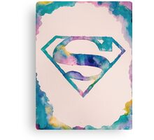 Watercolor Superman Canvas Print