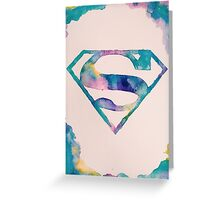 Watercolor Superman Greeting Card