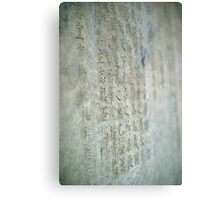 Writings on the wall. Canvas Print
