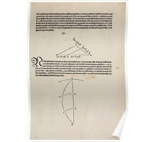 Measurement With Compass Line Leveling Albrecht Dürer or Durer 1525 0051 Repeating Shapes Poster
