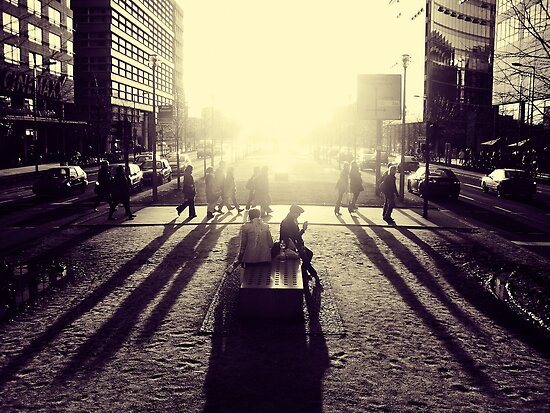 Sunset at Potsdamer Platz by Ulf Buschmann