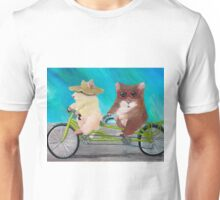 Tandem Hammies; a Tiny Bike Built for Two Unisex T-Shirt