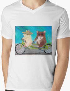 Tandem Hammies; a Tiny Bike Built for Two Mens V-Neck T-Shirt