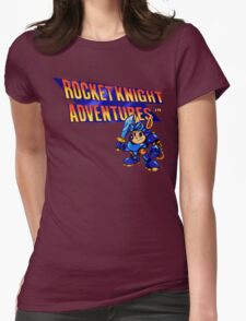 Rocket Knight Adventures (big print) Womens Fitted T-Shirt