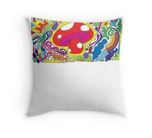 The Magic Mushroom - Mushiepower! Throw Pillow