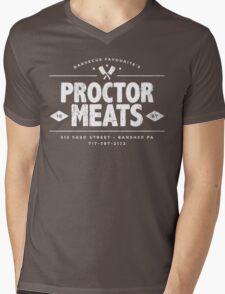 Proctor Meats (worn look) Mens V-Neck T-Shirt
