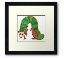 The Very Grumpy Caterpillar Framed Print