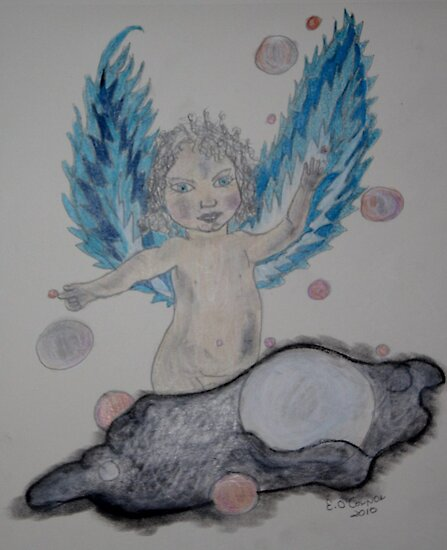 Angel Wings of Blue by eoconnor
