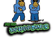 The Flight of the Conchords - The Hiphopopotamos by bleedart