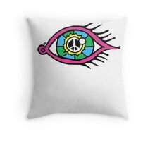 See The World Peacefully Throw Pillow