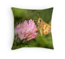 A TINY male Fiery Skipper. Throw Pillow