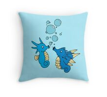 Horsea and Seadra Throw Pillow