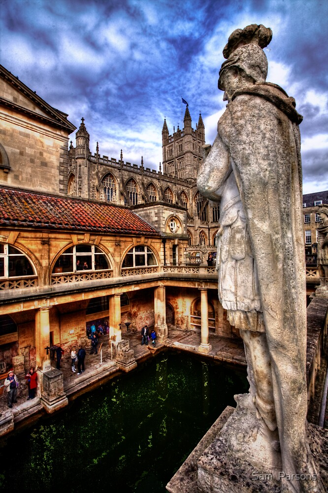 Overlooking the Baths.  by Sam  Parsons