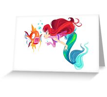 Ariel and Magikarp Greeting Card