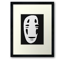 No Face - Shadow Large Framed Print