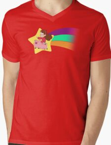 Mabel & Waddles Shooting Star Mens V-Neck T-Shirt