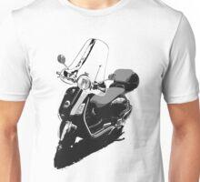 Vespa - Black & White Unisex T-Shirt