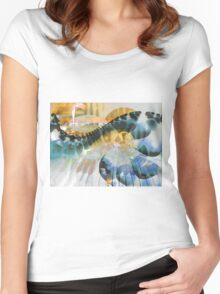 Old Piano Blues Women's Fitted Scoop T-Shirt