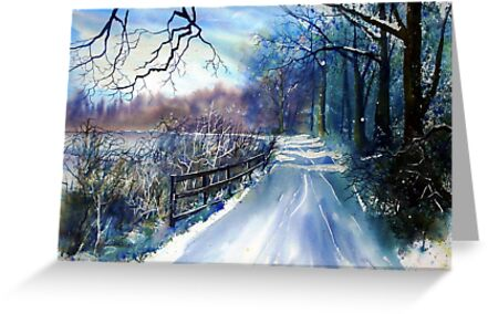 On the Banks of the Ouse in Winter by Glenn Marshall
