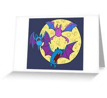 Zubat, Golbat, and Crobat Greeting Card
