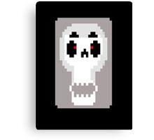 sassy pixel skull Canvas Print