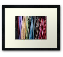 Oxford Street Scarves Framed Print