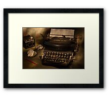 Typed nostalgia Framed Print